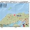 2016年10月18日 08時24分 鳥取県中部でM3.2の地震