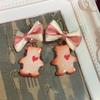 くまのクッキーピアスを作ったよーっ♪
