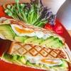 アボカドとゆで卵のサンドイッチ【ホットサンドレシピ】