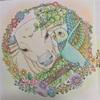 ルルとニーナのページの塗り絵にパステル【ロマンチック・ジャーニー】