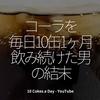 1055食目「コーラを毎日10缶1ヶ月飲み続けた男」10 Cokes a Day - YouTube