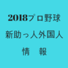 【2018】プロ野球12球団|新助っ人外国人情報一覧を詳しくチェック!