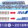 nanaco×ANA ボーナスポイント&レートアップキャンペーン開催中!nanacoからANAマイルへ実際に交換したやり方を公開。