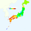 Rate of Deaths from Liver Cancer by Prefecture in Japan, 2015