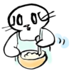 マッシュポテトを作る猫の無料イラスト