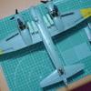「胴体へ主翼の組み付け」 サイバーホビー1/48 ユンカース Ju88A-4爆撃機