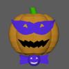 ジャックランタンをモチーフにしたキャラクターの 3D モデルを作った②