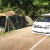 再び、日本のへそ日時計の丘公園キャンプ場へ