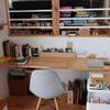 リビングの片隅の書斎