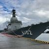 試験艦あすか、宿毛湾港へ接岸