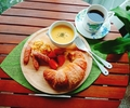 【週末朝ごはん】パンプキンスープとクロワッサン20180616
