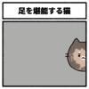 足を堪能する猫