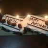 電車の形をした手作りバースデーケーキ!