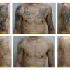 両腕~胸の広範囲のタトゥーも1度に照射できました
