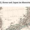1873年 ペーターマン調製「シナ(東部)、朝鮮、日本図 縮尺 1:7,500,000」米国会図書館蔵