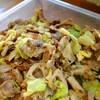 豚肉と蓮根、キャベツの炒めもの