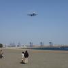 海と飛行機を見に城南島へ