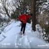 ふるさと歩道にてスノーシューラン