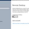 リモートデスクトップの設定と起動を設定するコマンド
