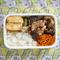 肉野菜炒めにエジプト塩をトッピング!秋のお弁当