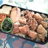 【男子中学生弁当】鶏の照り焼きと焼鮭