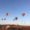 カッパドキア名物気球、そして昇れる朝日