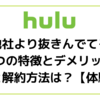 Huluの他社より抜きんでてる3つの特徴とデメリット|登録と解約方法は?【体験談】
