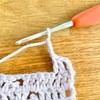 【編み物】ピコット編みの練習しました。
