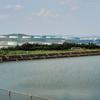 高離島のファームポンド(沖縄県うるま)