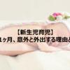 【新生児育児】産後1ヶ月、意外と外出する理由と準備