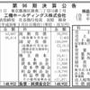 工機ホールディングス株式会社(旧 日立工機) 第96期決算公告