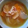 玉ねぎスープ にんじんとベーコン入り
