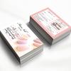 【可愛い名刺やカード作成】マツエクサロン次回予約カード|ロミロミ・エステショップカード