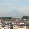 台風一過、今朝は富士山が見えます