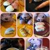 スシローさん♪玉子焼き専門店丸武さんのコラボデザート 伊達巻メルバと豪華貝の盛り合わせ♪
