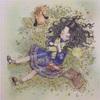 「エポルの森の少女」より春の毛布の塗り絵にプリズマカラーを使って