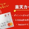ポイントがザクザク貯まる超節約系クレジットカード!!楽天カードでポイントが貯まりすぎる件。