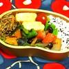 天ぷらと根菜の煮物
