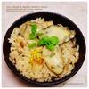 牡蠣ご飯、本あわび茸+大黒本しめじ+蓮根入り|おつまみにマグロのユッケパッチョ&なめろう風