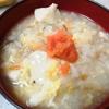 【1食46円】豆腐と卵のもち麦ごはん雑炊の自炊レシピ