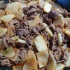 大根と牛肉のキムチ炒め