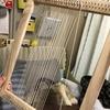 手作りの手織り機③