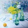 2018年: 『夏を描く (3) - 木槿とコリウス』