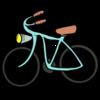 かわいい自転車 のイラスト