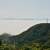 雲に浮かぶ松前半島…