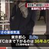東京都心ではこの時期としては36年ぶりの寒さ。来週からは寒さも和らぐ模様。