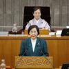 27日、阿部県議が追加代表質問。県商業まちづくり条例基本方針の見直しに知事は社会情勢の変化と抽象的な理由しか述べられず。