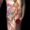 九尾の狐 妖怪 タトゥーデザイン 刺青