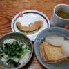 厚揚げと大根の煮物と南瓜の天ぷら
