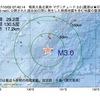 2017年10月02日 07時40分 奄美大島北東沖でM3.0の地震
